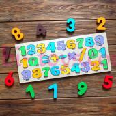 Вкладыш цифры и знаки