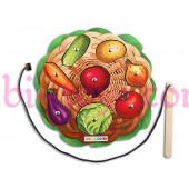 Игра с магнитами овощи