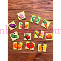 Картинки-половинки овощи