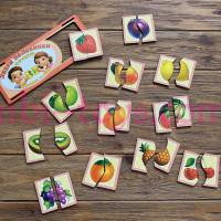 Картинки-половинки сочные фрукты
