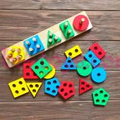 Логическая пирамидка-сортер (разноцветный)